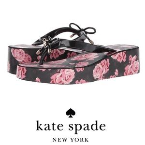 Kate Spade New York Rhett Floral Wedge Flip Flops